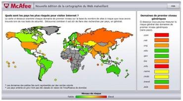 Edition 2010 de McAfee des domaines et régions les plus risqués face aux dangers de l'Internet