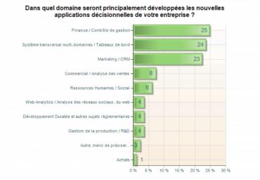 La finance, la supervision et le CRM constitueront les principaux axes de développement des solutions décisionnelles en 2011.