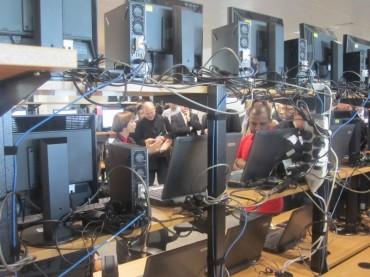 La salle des tests d'Atos pour l'IT des JO de Londres en 2012