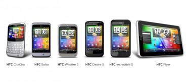 HTC gamme complète de smartphone et tablette Android