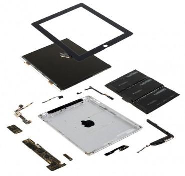 Vue de l'iPad 2 démantelé
