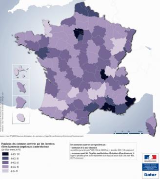 Carte du déploiement de la fibre optique en France