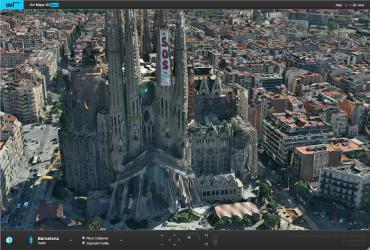 La Sagrada Familia rendue par Nokia Ovi Maps 3D