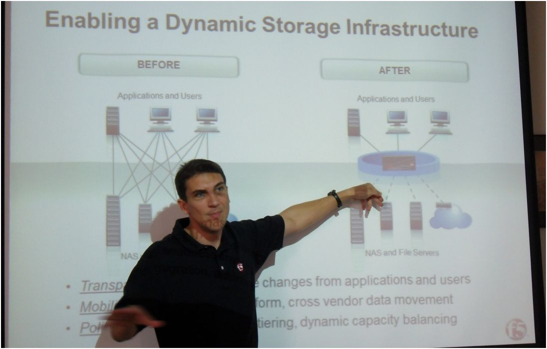 F5 infrastructure stockage