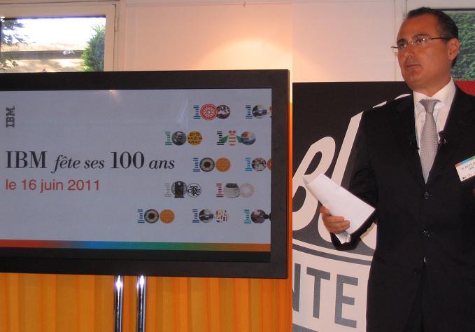 IBM centenaire, Alain Benichou, président (France)