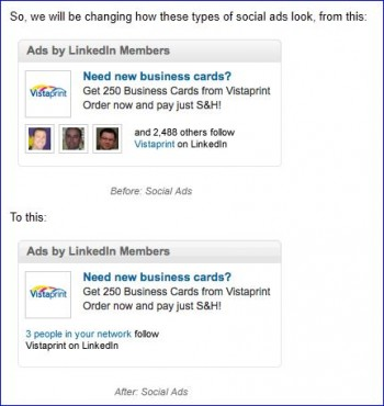 LinkedIn changements