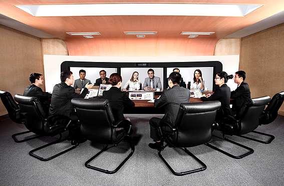 La téléconférence par Huawei