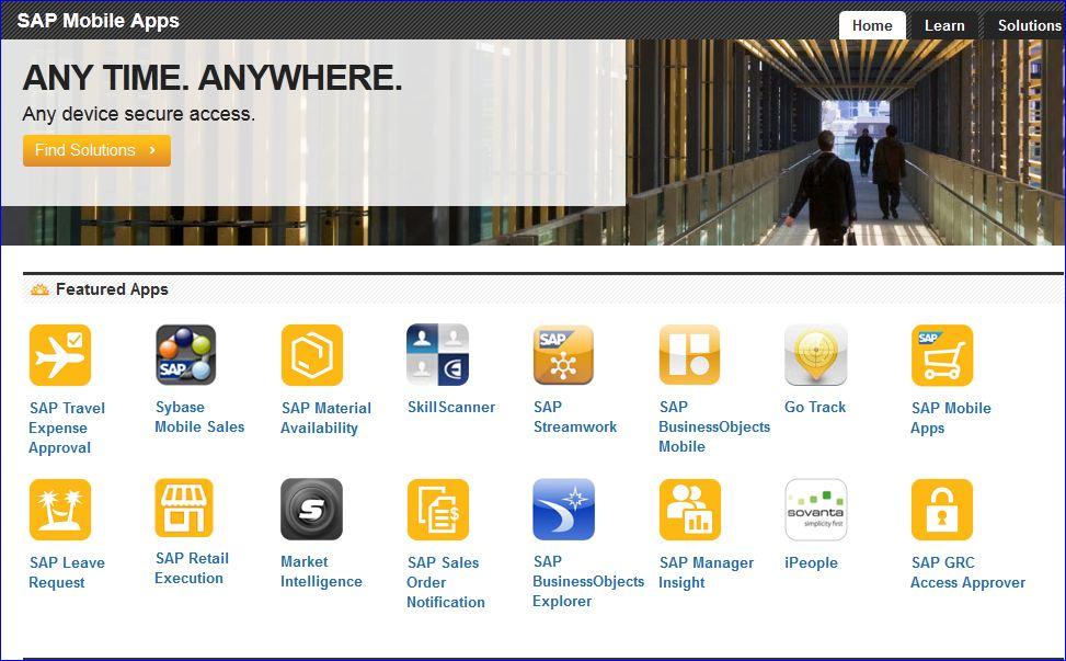 SAP Sapphire SAP Mobiles Apps store