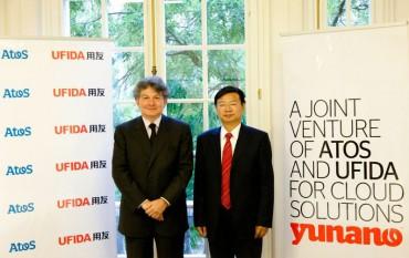 YUNANO - Thierry Breton (Atos) Calvin HU Bin (Ufida)