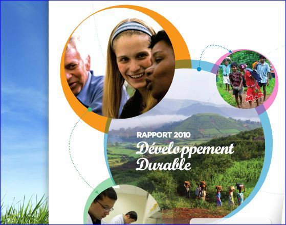 Danone developpement durable, rapport 2010