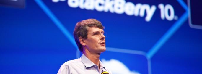 Thorsten Heins (PDG de RIM) à la DevConf Europe 2012 d'Amsterdam (crédit photo @ Official-BlackBerry-Images)