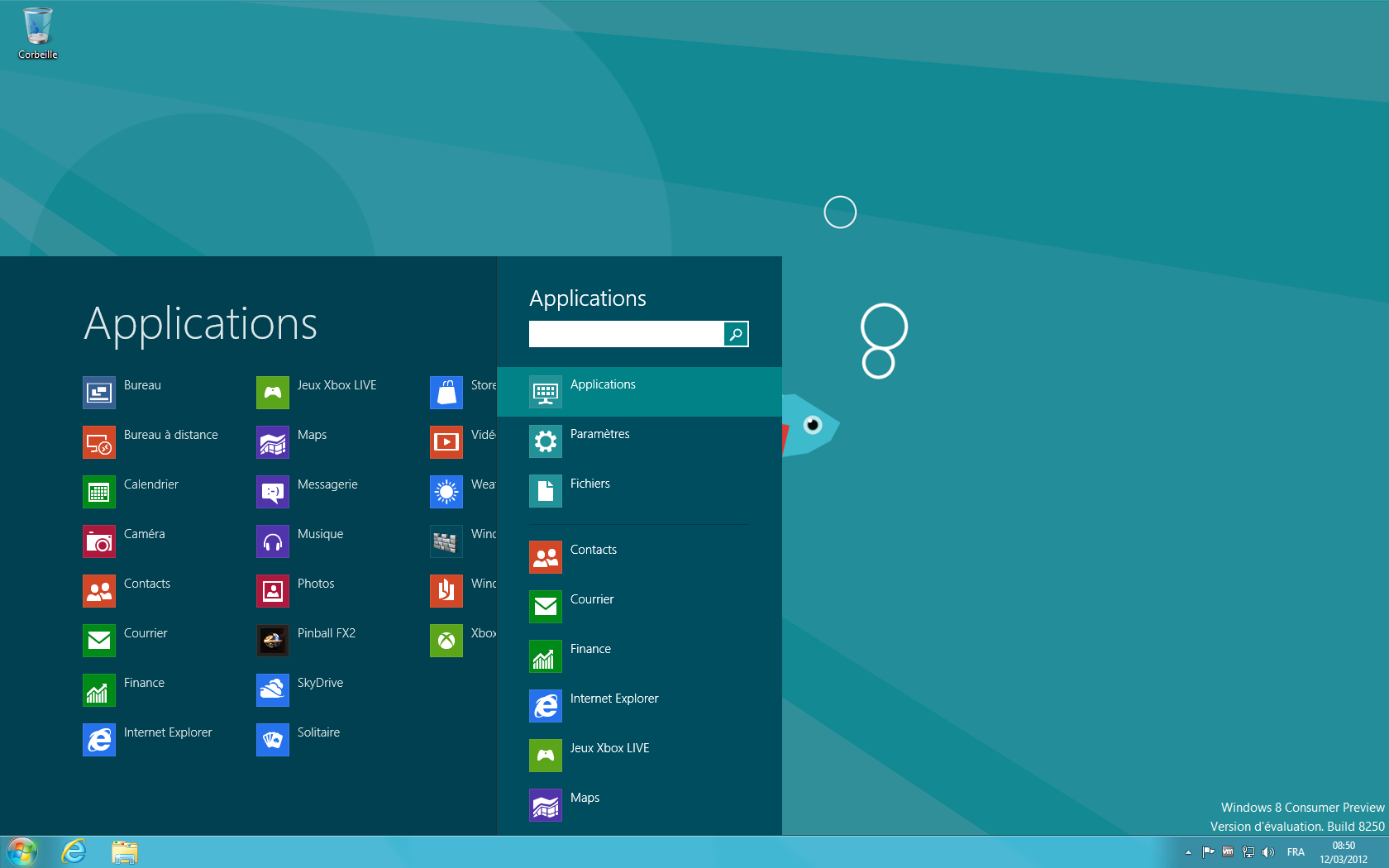 Avec start8 windows 8 retrouve son menu d marrer for Bureau windows 8