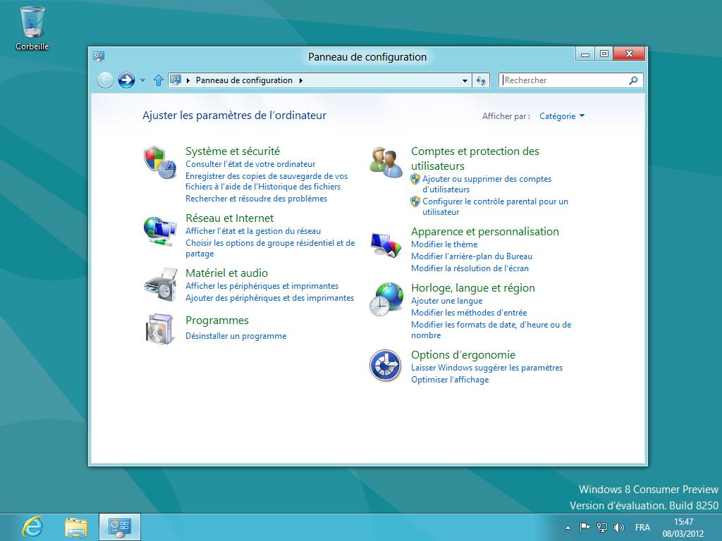 windows 8 le bureau classique en images