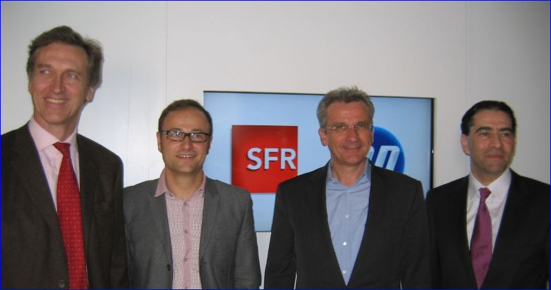Yves de Talhouët (HP), Pierre Barnabé (SFR), Franck Esser (SFR) et Gérald Karsenti (HP)_