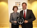 CIONET 2012 Awards_  Oliver Bussmann, CIO SAP AG, with Neelie Kroes, EU vice-president