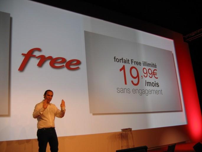 Xavier Niel, patron d'Iliad, présente l'offre mobile de Free