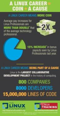 Infographie Fondation Linux - emploi © Linux Foundation