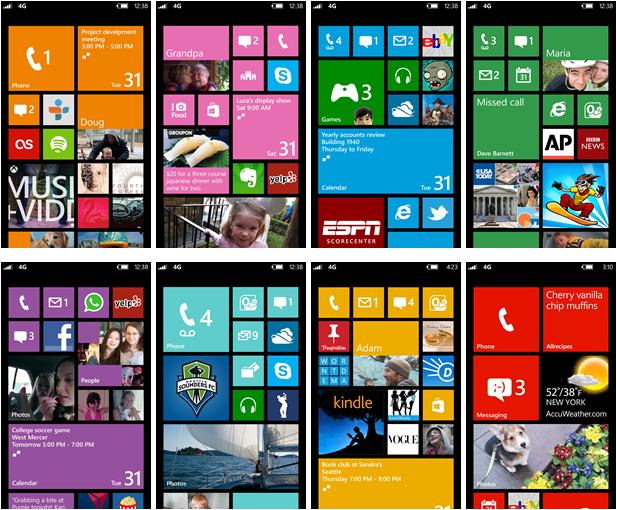 La nouvelle interface d'acceuil offre une plus grande personnalisation des smartphones sous Windows Phone 8