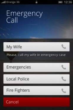 Firefox OS appels d'urgence
