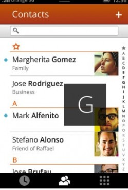 Firefox OS gestion des contacts