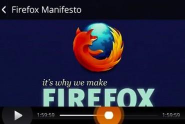 Firefox OS lecteur video