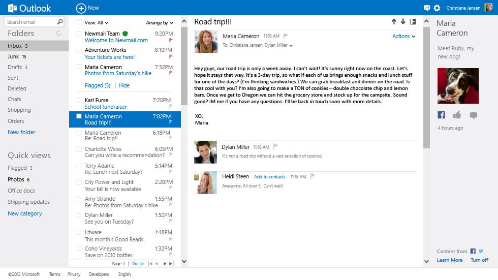 Découverte du nouveau webmail de Microsoft, Outlook.com. Une offre