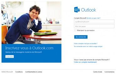 Outlook.com inscription © Microsoft
