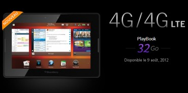BlackBerry PlayBook 4G le 9 août