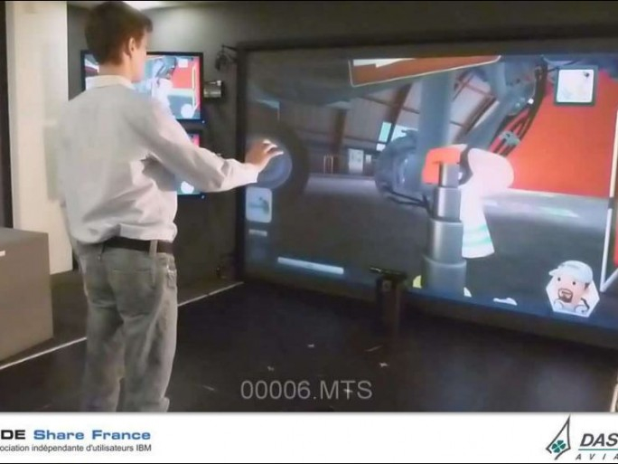 L'apprentissage des bons gestes, en version 'serious game'. Source Dassault Aviation