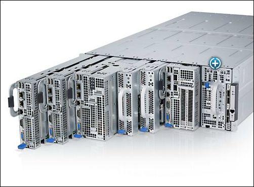 Dell PowerEdge C8000 agencement des sleds