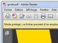 Adobe Reader sécurite fonctionnalités