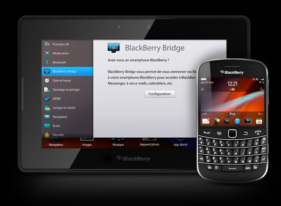 BlackBerry PlayBook os 21 cryptage professionnel tablette rim
