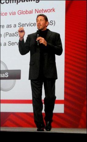 Larry Ellison, chairman d'Oracle, à l'ouverture d'Oracle Open World 2012