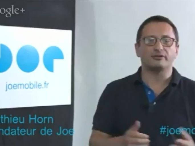 Mathieu Horn, fondateur de JoeMobile