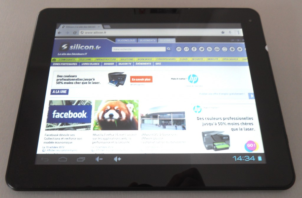 test tablette yzipro Internet © Silicon.fr