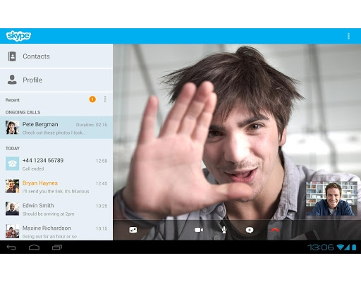 Skype Android tablettes voix © Skype