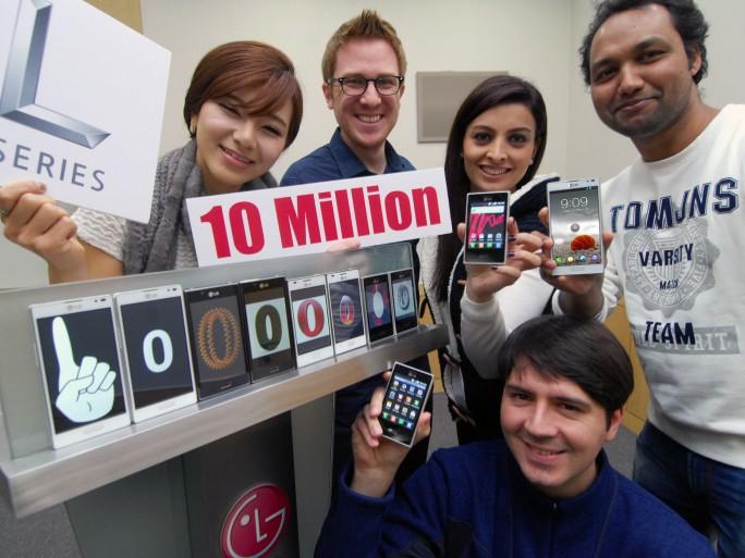 LG franchit les 10 millions de ventes de ses smartphones L-Series (crédit photo LG)