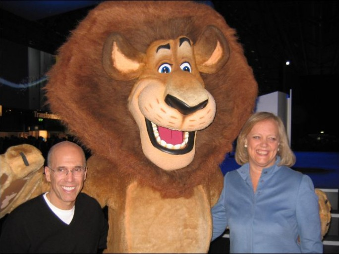 Meg Whitman, CEO de HP et Jeffry Katzenberg, CEO de Dreamworks