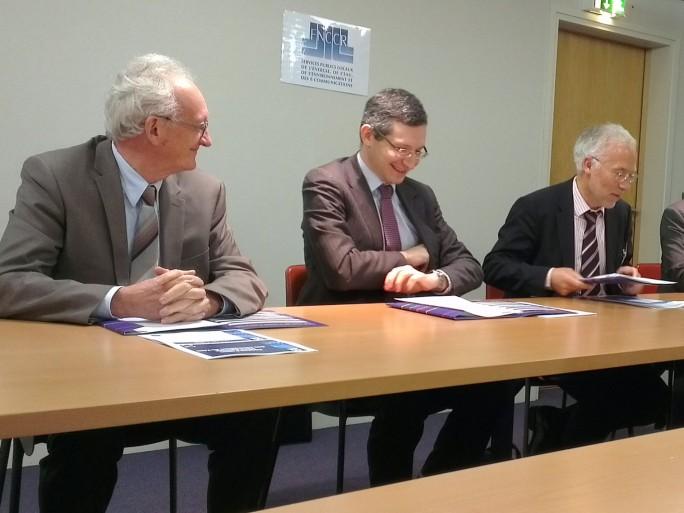 Michel Chanel (SIEA), Jérôme Yomtov (Numericable), Gilles Quinquenel (FNCCR)