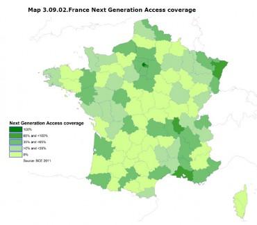 Point Topic : répartition de la couverture des réseaux très haut débit en France