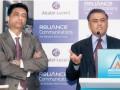 Sandip Biswas, responsable gestion réseau de Reliance Communications et Vivek Mohan, président d'Alcatel-Lucent India
