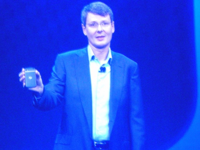 Thorsten Heins, pdg de RIM au lancement de BlackBerry 10