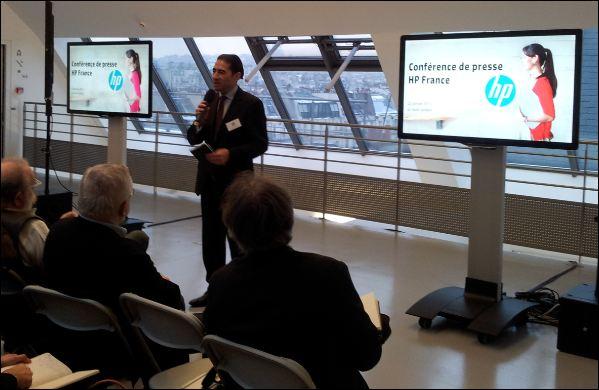 HP France, Gerald Karsenti , conférence de presse 22 janv.
