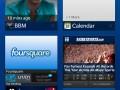 BlackBerry 10 : écran d'accueil