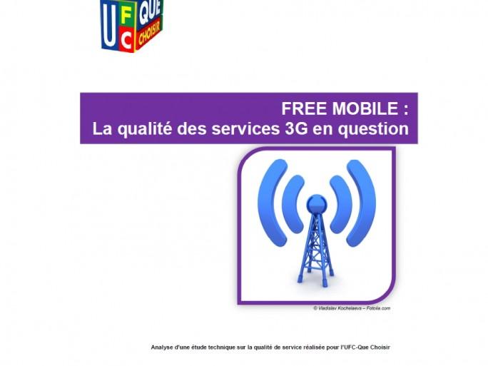 Ufc-Que choisir rapport de mesure de qualité des services 3G