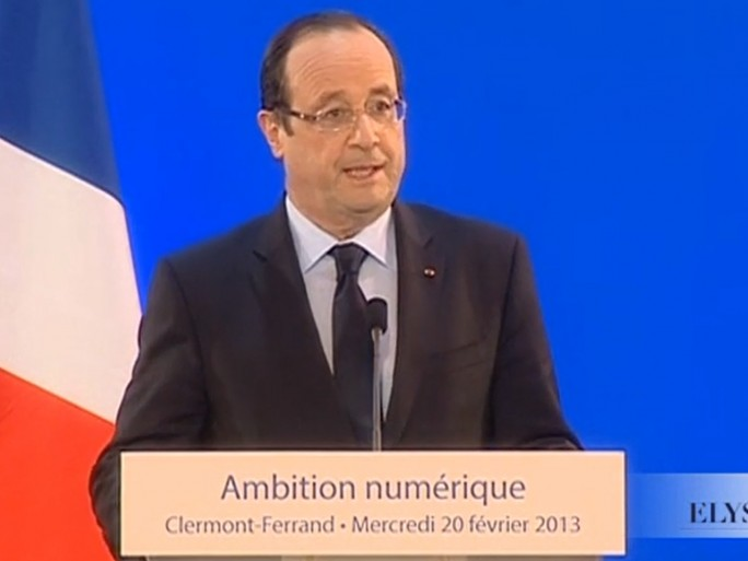 Francois Hollande, discours de Clermont-Ferrand sur le déploiement du très haut débit