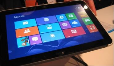 Gros plan sur la tablette Surface de Microsoft