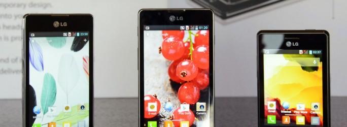 LG Optimus L Series II L5, L7, L3 (crédit photo © LG)
