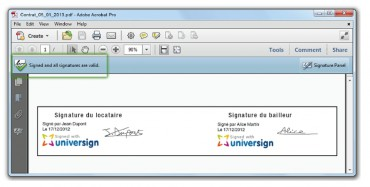 Cryptolog - Universign certifié Adobe Reader