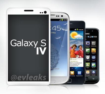 GalaxyS4 (crédit photo : @evleaks)